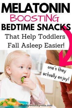 These great melatonin boosting foods make great bedtime snacks for toddlers. The best part is that most toddlers already love these foods and they help make your tired naturally! baby breastfeeding baby infants baby quotes baby tips baby toddlers Kids And Parenting, Parenting Hacks, Funny Parenting, Peaceful Parenting, Healthy Bedtime Snacks, Healthy Sleep, Healthy Kids, Healthy Meals, Healthy Living