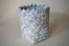 Flashback: Woven Map Basket