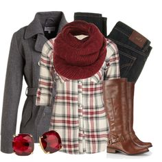 """Flannel & Wool"" by qtpiekelso on Polyvore"