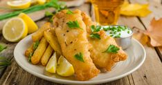 Traditional beer-battered fish and chips will always be a favourite treat, and now you can easily make your favourite takeaway at home. Deep Fried Cod Recipe, Fried Cod Recipes, Healthy Chicken Recipes, Seafood Recipes, Fish And Chips Rezept, Air Fryer Fish Recipes, Fisher, Beer Battered Fish, Fried Fish