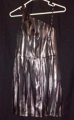 CHECK OUT MY AUCTION NOW! Women's XOXO Brand-Silver/Black Party Dress! Size 3! NWT! One Shoulder! Hot!