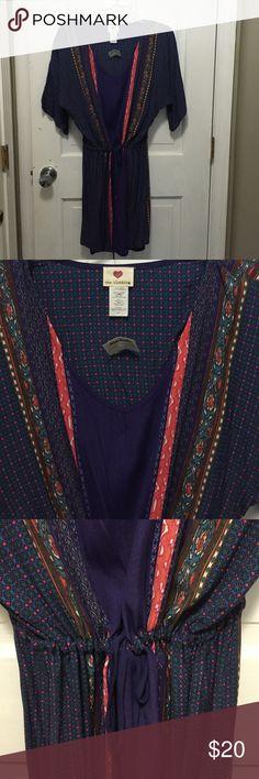 🎉🎉HOST PICK😂😂Tie string bohemian dress Bohemian dress NWT one clothing Dresses Midi
