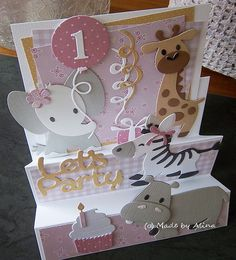Made by Alina: 2018 First Birthday Cards, Marianne Design Cards, Stepper Cards, New Baby Cards, Fancy Fold Cards, Baby Shower Cards, Shaker Cards, Congratulations Card, Card Tags