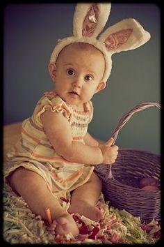 Sweet easter bunny photography idea