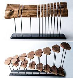 cypress wood sculptures