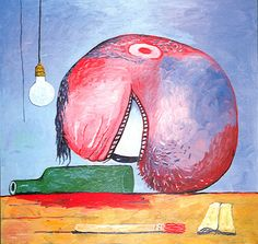 Philip Guston,born in Montreal,went through three major stages in his art career. A socio-muralist, an abstract painter,and I liked his most mature one best. Guston personally brought back figurative/comic art images into the art world in the 70's. His own dealer refused to show these new works at first they were so RAW. It took great courage for him to face his shadow side so plainly in these HUGE works. They affected me physically when I saw them in New York, they made me believe in art…