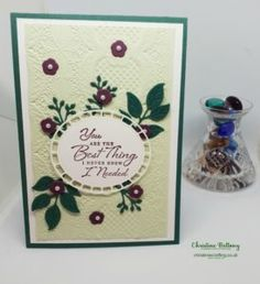 Wonderful Romance meets Lace Dynamic Embossing – Christine's Crafting by Christine Bettany