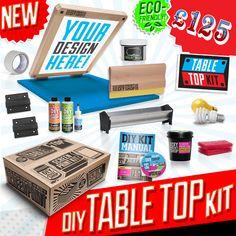 DIY Table Top Screen Printing Kit