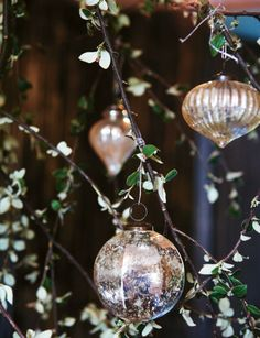 I have so many mercury ornaments....mostly from Restoration Hardware and Pottery Barn...beautiful!