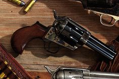 Cimarron Thunderer Said to be the gun Sam Colt should have made, the single-action Thunderer didn't exist in the Old West. This gun's inspiration comes from Colt's double-action revolver that bore the Lightning or Thunderer moniker depending on caliber--either .38 or .41. New Cowboy Guns Of The Old West - Popular Mechanics
