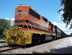 L&D #2000 Louisiana & Delta Railroad EMD GP38 at New Iberia, Louisiana