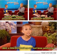 Cancer patient Talia on Ellen