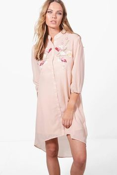 Ashley Boutique Floral Embroidered Dress by Boohoo. Dresses are the most-wanted wardrobe item for day-to-night dressing. From cool-tone whites to block brights, we've go...