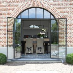 House in Belgium Gate Design, House Design, Steel Doors And Windows, Hotel Room Design, Interior Windows, Farmhouse Remodel, House Extensions, Stone Houses, Architecture Details