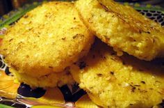 Foodista | Recipes, Cooking Tips, and Food News | Parmesan Herb Millet Cakes - use veggie broth.