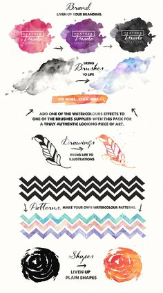 Add me some Watercolour Quick! by Nicky Laatz on @creativemarket