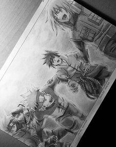 Team 7 reunited again Naruto Kakashi, Anime Naruto, Fan Art Naruto, Naruto Team 7, Naruto Funny, Manga Anime, Naruto Sketch, Naruto Drawings, Anime Drawings Sketches