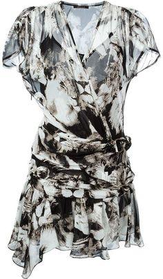 Roberto Cavalli leopard camouflage short dress - $2,117.45