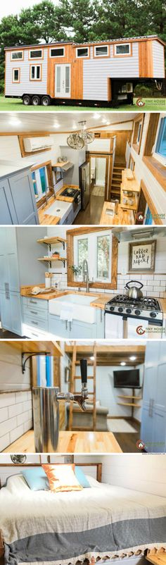 The Lookout v3: a modern/rustic tiny house with two bedrooms and a beer tap!