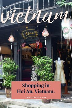 Hoi An, Vietnam, is known for it's custom tailors. I went shopping in Hoi An and got custom dresses made from Miss Forget Me Not and B'Lan. Travel Around The World, Around The Worlds, Tailored Dresses, Travel Souvenirs, Hoi An, Custom Dresses, Vietnam Travel, Figs, Dress Making