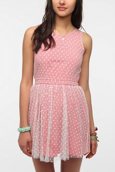 395e371424 One  amp  Only x Urban Renewal Lace Polka Dot Dress  UrbanOutfitters Lazy  Day Outfits