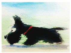 A personal favourite from my Etsy shop https://www.etsy.com/uk/listing/236094965/scottish-terrier-dog-art-print-scottie