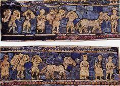 Estandarte de Ur (Sumeria), detalle