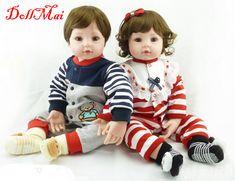 "Bebe DollMai 22"" 55cm boy doll reborn for sale handmade silicone reborn babies for children birthday gift dolls  bonecas#doll"