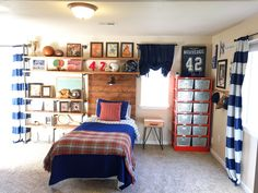 10 Best Vintage Sports Themed Bedroom images in 2017 | Sports themed ...