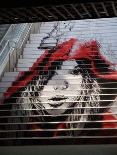 Art in the Barcelona underground.  Metro de Barcelona