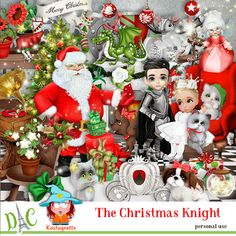 The Christmas Knight by Kastagnette The Christmas Knight [kasta_TheChristmasKbnight] - Damier, Clipart, Knight, Christmas Ornaments, Holiday Decor, Home Decor, Christmas Stuff, Garland, Gaming