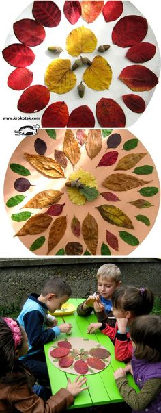 Autumn mandalas - what could be more fun for kids? Collect leaves and flower petals and let the games begin!
