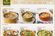 Classic Salad, Kids Menu, Bakery Cafe, Chicken Noodle Soup, Greek Salad, Caesar Salad, Menu Items, Mac And Cheese, Catering