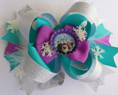 Disney's Frozen stacked boutique style hair bow by MelasTrendyBows, $10.00