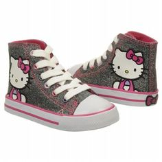 hello kitty shoes for girl toddlers | Kids Hello Kitty ' Hello Kitty Hi-Top Black Sparkle FamousFootwear.com