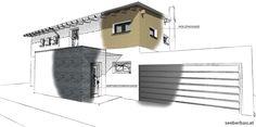 Einfamilienhaus Garage Doors, Outdoor Decor, Home Decor, Detached House, Decoration Home, Room Decor, Home Interior Design, Carriage Doors, Home Decoration