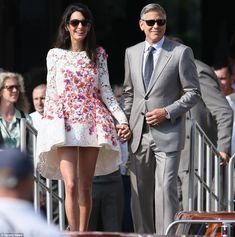 Introducing Mr and Mrs Clooney: George Clooney and his beautiful bride Amal Alamuddin left...