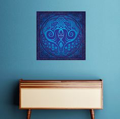 Soul Mates Wall Decal in Blue by Cristina McAllister