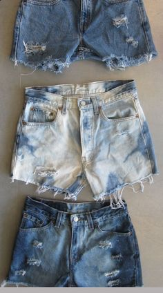 Bleached & Destroyed High Waisted Short-Shorts
