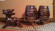 Vintage Donkey Salt & Pepper Wagon by CollectorsAgency on Etsy