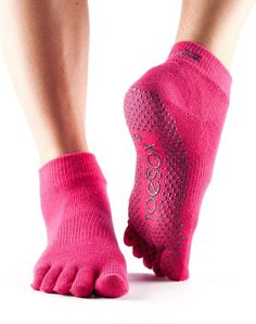 Mujer Toesox Grip Pilates Barre Socks-Non Slip Luna Full Toe For Yoga /& Ballet Calcetines