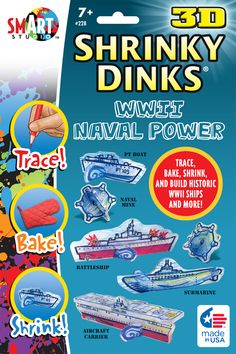 3-D Shrinky Dinks: WWII Naval Power