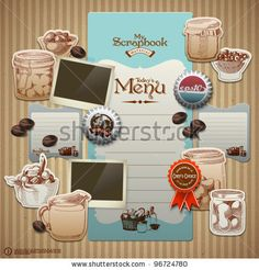 Vector Retro Scrapbook Element For Cooking Diary - 96724780 : Shutterstock