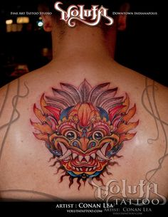 custom_barong_mask_tattoo