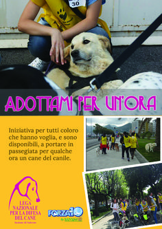 """#welcomeincanile - dall'11/10 torna l'#iniziativa della #LegadelCane di #Salerno """"adottami per un'ora"""""""