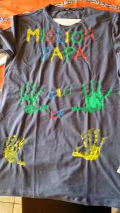 Idea per la festa del papà! Handmade tshirt for daddy