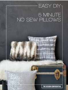 DIY Teen Room Decor Ideas for Girls | Easy No Sew 5 Minute DIY Pillows | Cool Bedroom Decor, Wall Art & Signs, Crafts, Bedding, Fun Do It Yourself Projects and Room Ideas for Small Spaces http://diyprojectsforteens.com/diy-teen-bedroom-ideas-girls