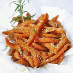 yellowfingers: {Recipe} Baked Sweet Potato Truffle Fries (with Rosemary)
