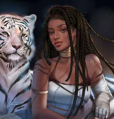 Chinese Zodiac: Tiger by Jyundee on DeviantArt Black Girl Cartoon, Black Girl Art, Black Women Art, Black Girl Magic, Black Art, Character Inspiration, Character Art, Year Of The Tiger, Black Characters
