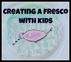 Creating a fresco with kids - learning all about Leonardo Da Vinci